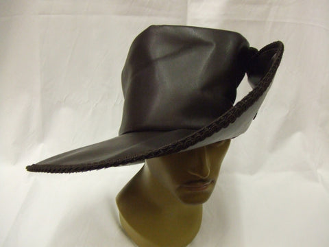 Musketeer Hat ~ Dark Brown leather look ~ Louis XIII ~ 61 cm ~ 18thC ~ Pantomime