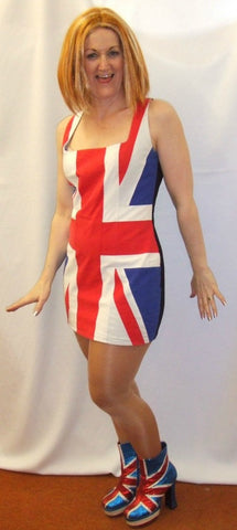 Miss Britain Fancy Dress ~ Hire ~ Size 12 -14 ~ Union Jack Dress ~ Geri