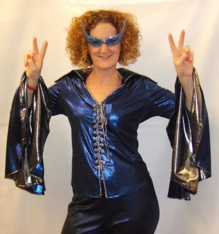 Dancing Queen ~ Blue ~   1970s disco  ~ Fancy dress  Hire ~ Size 18