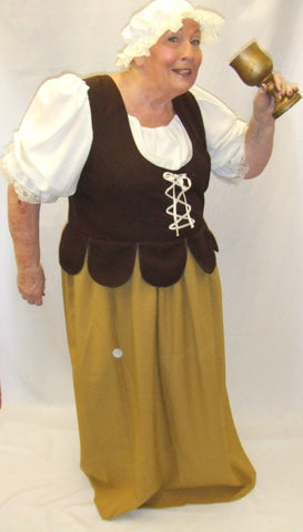 Medieval Wench ~ Brown and Cream  ~ size 22 and 24 ~  Hire