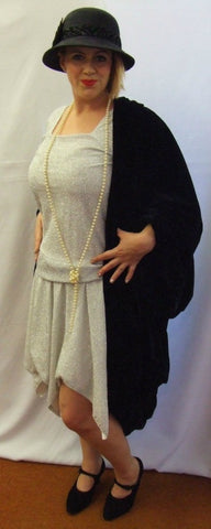 1920s Flapper Dress and Coat ~ ~ Day dress ~  Hire ~ size 16