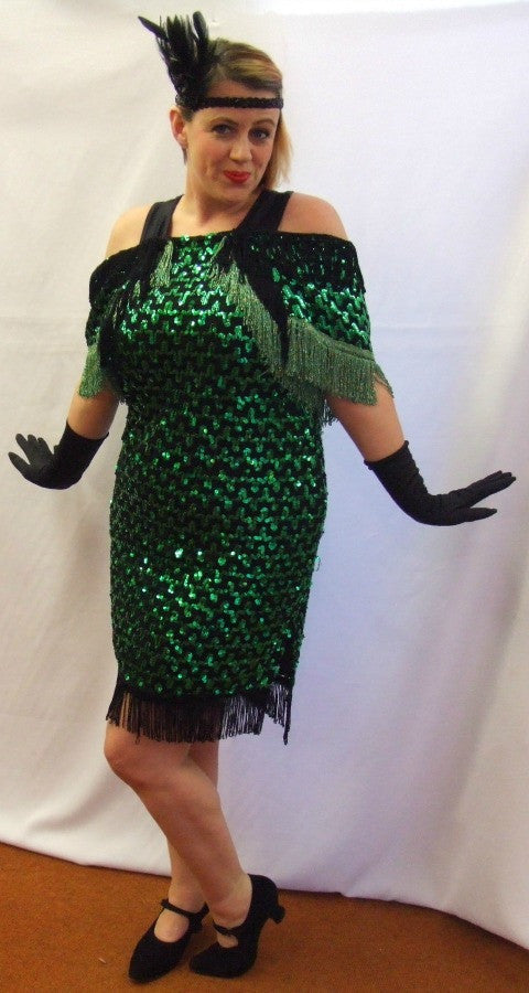 Emerald Envy ~ 1920s style flapper dress ~ Evening ~ Gatsby ~ Bugsy ...