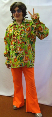 1970s Lime Hearts fancy dress ~ Hire ~ 42 / 44 chest