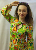 1970s dress ~  Hearts ~ Fancy dress  Hire ~ Age 12 - 14