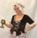 Medieval Wench  ~ Brown and White  ~ Hire ~ size 14