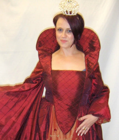 Burgundy Elizabethan Lady ~ Medieval ~ Gown ~ Hire ~ Size 16 ~ 18