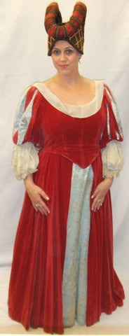 Medieval Queen ~ Game of Thrones ~ Red  cream and blue ~ Hire ~ Size 14 ~ Maid Marion