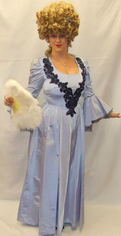 18th Century Ball gown / Pantomime ~ Powder Blue & Navy ~ Masquerade  ~ Hire ~ Size 12-14 ~ Georgian