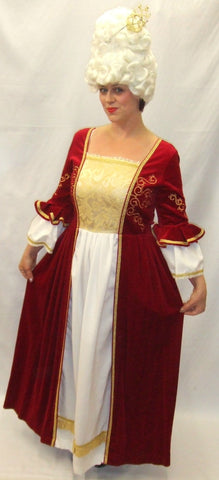 18th Century  Gown ~ Marie Antoinette  ~  Hire ~ Size 14 - 16 ~ Pompadour ~ Red Cream and Gold