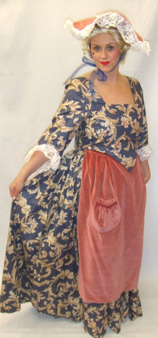 18th Century Ball gown / Pantomime ~ Cream & Black ~ Masquerade  ~ Hire ~ Size 14 ~ Georgian