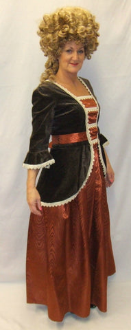 18th Century  Gown ~ Copper and brown  ~  Hire ~ Size 12 ~ 14 ~ Georgian ~ Pirates of the Caribbean