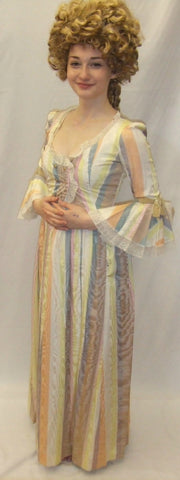 18th Century  Gown ~ Milk Maid  ~ Candy stripe ~   Size 6 ~ Pompadour