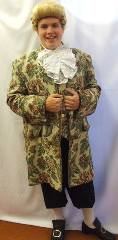 18th Century Floral Brocade Frock coat ~ Pirate ~ Hook  ~ Prince ~ 46