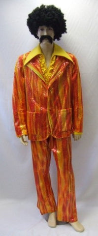 Hot Pimp ~ 1970s fancy dress ~ orange and yellow ~ 42