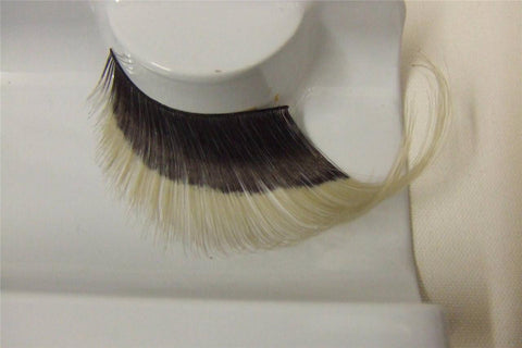Supersize False Eyelashes ~ Black / black light reactive ~ showgirl ~ dame ~ 253