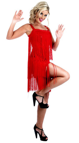 1920s Flapper Dress ~ Hire ~ Red ~ Sizes 8 ~ 10 - and 10 ~12