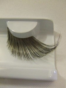 Supersize False Eyelashes ~ Black / black light reactive ~ showgirl ~ dame ~ 254