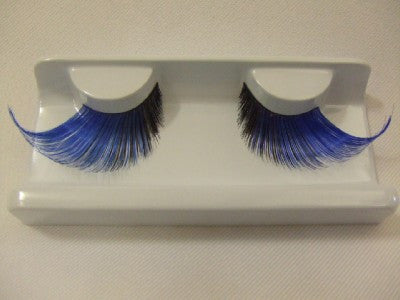 Supersize False Eyelashes ~ Blue / Black ~ Grimas ~ Dame ~ Showgirl ~ Panto ~ 256