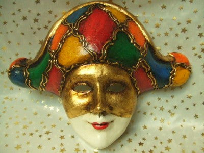Full Faced  Harlequin Venetian Mask
