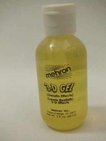 Mehron ~ 3d Gel Clear ~ Horror Effects ~ Make-up