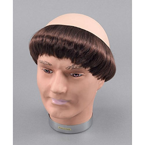 Monk Bald Wig - Bald head with hair - Friar Tuck