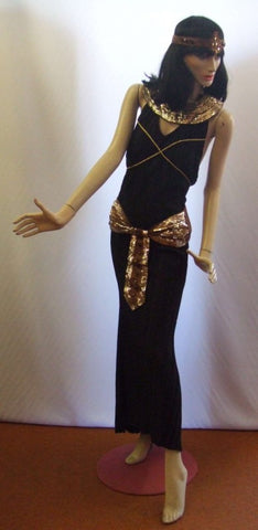 Black Cleopatra Fancy dress ~ Egyptian / Roman costume ~ Hire ~ Size 10 ~12