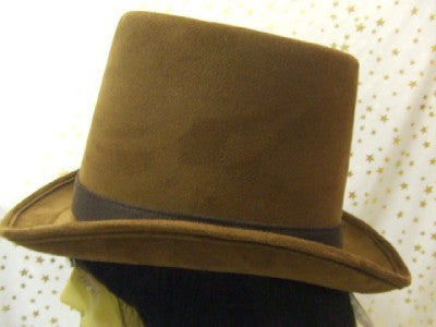 Brown Top Hat ~ Coachman ~ Brushed Suede ~ Deluxe Quality ~ 57 ~ 61