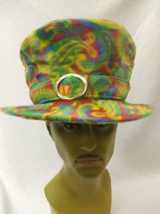 Psychedelic Fur Mad Hatter ~ Top Hat ~ Black Light Reactive ~ 1970's Rock Star