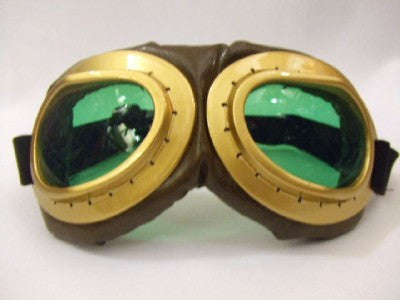 Aviator Goggles ~ Steampunk ~ Glasses ~ brown / green