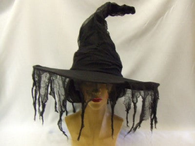 Black Grunge Witch Hat  ~ One size ~ Halloween