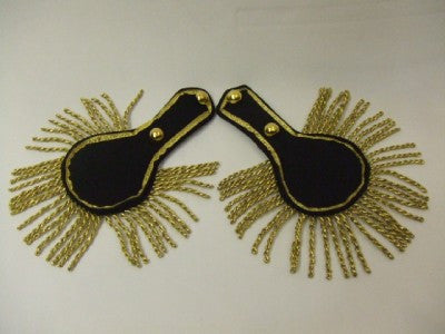 Epaulettes ~ Black and Gold ~ 18th Century ~ Prince Charming ~ Pantomime