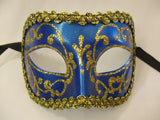 Teal and Gold Venetian Mask ~ 172D