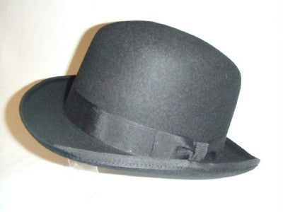 Bowler Hat ~ Black ~ NEW ~ Size 61cm ~ XL ~ Top Quality Wool