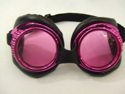 Radioactive Aviator Goggles ~ Pink ~ Steampunk ~ Glasses ~ Scientist ~ cosplay
