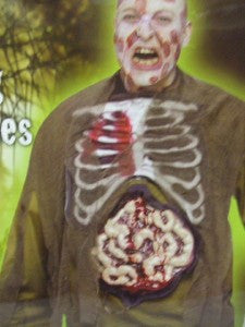 Bleeding Intestines with heart pump ~ Zombie ~ Scientist ~ Casualty ~ Halloween