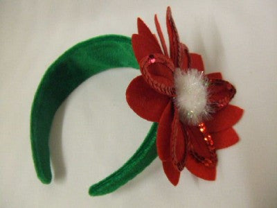 Poinsettia Hat ~ Christmas Flower Headband ~ Elf ~ Mrs Santa