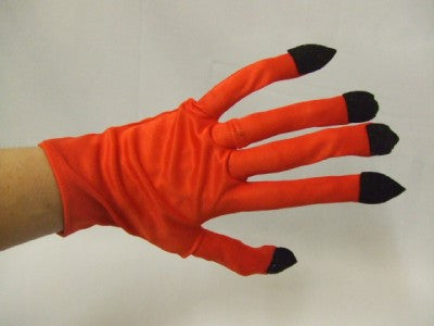 Devil Gloves with nails ~ Witch ~ Space ~ Sci fi ~ Insect ~ Red Gloves