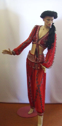 Jasmine Red Costume ~ Hire ~ Size 12 ~ 14 ~ Aladdin