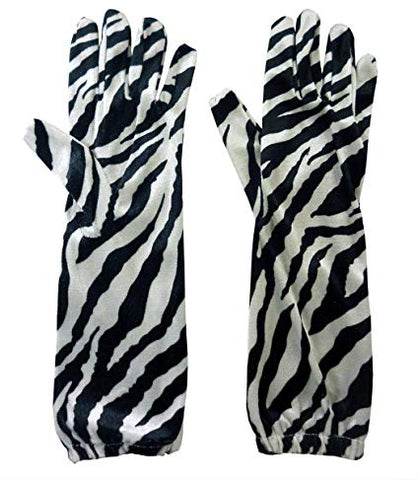 Zebra Print Gloves Elbow length Gloves long Book Week Madagascar zoo animal safari