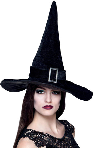 Large Black Witch Hat With Buckle Halloween Wicked