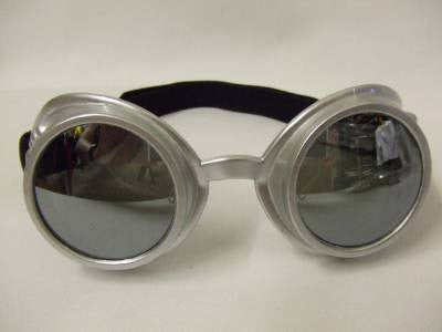 Radioactive Atomic Ray  Goggles ~ Silver ~ Steampunk ~ Scientist ~ cosplay ~ Atomic