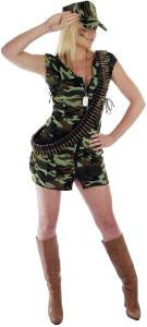 Army Girl Costume  Camouflage  Army  Military  Uniform Size M 10 - 12