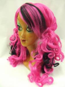 Twisted Wig ~ Pink and Black ~ Witch ~ Halloween ~ Vamp ~ Wicked