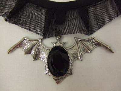 Bat Choker ~ Necklace ~ Vampire ~ Witch ~ Halloween Jewelry