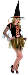 Orange Ribbon Witch ~ Orange & Black ~ Size S 8-10 ~ Halloween costume