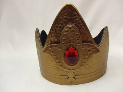 Queen Crown  Medieval  Prince King   Panto  Leather Look  Large