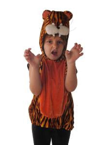 Tiger Costume ~ Tabard & head ~ Circus ~ Zoo ~ Safari ~ who came to tea ~ Book Week ~ 5 - 6