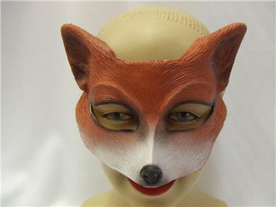 Fox Half Mask ~ Latex ~ Fantastic ~ Animal ~ Ghoulish productions ~ Farmyard