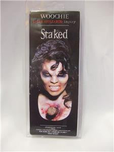 Woochie Latex Appliance ~ Staked Through the heart ~ Halloween make-up