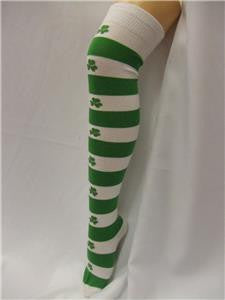 St Patricks Day Shamrock Socks ~ Leprechaun ~  Over the knee ~ Irish ~ luck